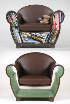 book chair...that seems to have a subliminal mickey mouse shape (further enforced by the prominent Walt Disney book)
