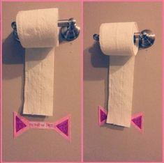 une marque pour éviter de prendre trop de papier toilette