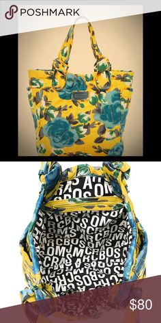 Marc by Marc Jacobs Yellow Floral Tote Gorgeous tote! Excellent condition. Marc by Marc Jacobs Bags