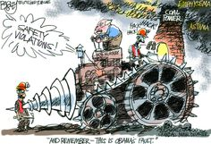"""Bob Murray's Revenge""  This Pat Bagley editorial cartoon appears in The Salt Lake Tribune on Sunday, Nov. 11, 2012."