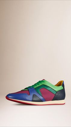 The Field Sneaker in Colour Block Leather and Mesh | Burberry
