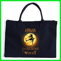 Abrar Loves Being Witchy. Halloween Gift - Tote Bag - Totes (*Amazon Partner-Link)