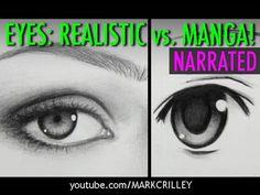 Styles Compared: Realistic Eyes & Manga Eyes - YouTube