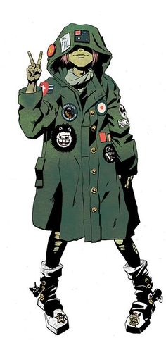 Tank Girl by James Harvey -- haha. pretty cute Tank Girl impression for Scrub Character Modeling, Character Drawing, Character Illustration, Character Concept, Comic Character, Concept Art, Illustration Art, Illustrations, Arte Indie
