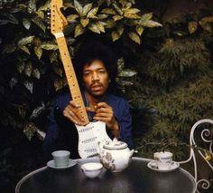 the last pic of Jimi Hendrix.