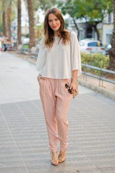 #fashion #fashionista @macarena gea photo 2-harem_pants-pale_pink-street_style-outfit-look_zps0d1e53d2.jpg