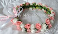 10x flower headbands for women artificial Double rose hair bands DIY hairpiece in wedding bridal decor JD09 in free shipping-in Decorative Flowers & Wreaths from Home & Garden on Aliexpress.com