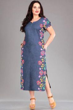 Super Sewing Simple Dresses For Women Plus Size 51 Ideas Source by sussusayuri Kurti Embroidery Design, Embroidery Dress, African Fashion Dresses, Fashion Outfits, Denim Fashion, Fashion Fashion, Womens Fashion, Elisa Cavaletti, Kurta Designs Women