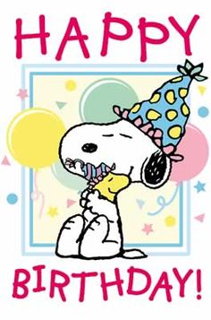Snoopy ~ Happy Birthday!