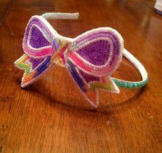 Beaded bow on a headband