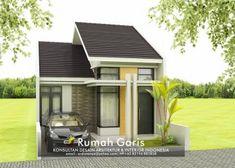 Desain lengkap rumah 1 lantai tipe 48 di lahan 6×12 meter Model House Plan, My House Plans, Minimalist House Design, Minimalist Home, Modern Bungalow House, Home Design Plans, Types Of Houses, Home Fashion, Facade