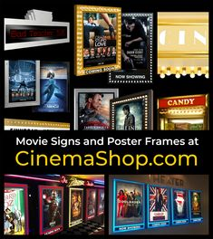 Shop for home theater signs and commercial display signs, including backlit poster frames, cinema marquees, and movie concession displays. Movie Poster Frames, Marvel Movie Posters, Iconic Movie Posters, Disney Movie Posters, Original Movie Posters, Movie Poster Art, At Home Movie Theater, Alternative Movie Posters, Vintage Posters
