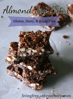 GF Almond Joy Bites - See more fantastic gluten free desserts recipes at All-Desserts.com!