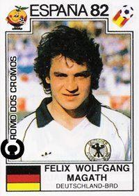 Cromo nº 216 - Magath. Natural de Aschaffenburg na Baviera, começou a dar nas vistas no Saarbrücken antes de se transferir para o norte da Alemanha, onde, em 1976/77, começou a brilhar no Hamburg SV. Magath foi um médio de excelência que durante uma década encheu o meio-campo da selecção germânica e do clube do norte da Alemanha, onde jogaria até 1985/86. Exactamente dez anos depois, em 1995/96, Felix Magath estreou-se como técnico no mesmo clube.