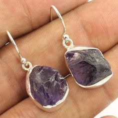 Amazing Collection Earrings Natural AMETHYST Gemstones 925 Solid Sterling Silver…