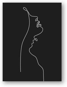 Black And White Art Drawing, Black Paper Drawing, Black And White Abstract, Black Painting, Art Abstrait Ligne, Minimalist Drawing, Minimalist Wall Paint, Images D'art, Minimal Art