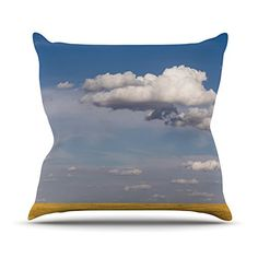 KESS InHouse AB2022AOP03 18 x 18-Inch 'Ann Barnes Big Sky Clouds' Outdoor Throw Cushion - Multi-Colour >>> To view further for this article, visit the image link. #GardenFurnitureandAccessories