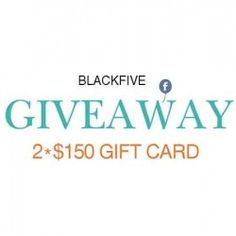 Get $300 to shop anything on BLACKFIVE! ^_^ http://www.pintalabios.info/en/fashion-giveaways/view/en/2501 #International #Fashion #bbloggers #Giweaway