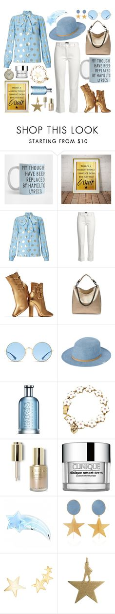 """musical(ly) motivated"" by crimson-quartz ❤ liked on Polyvore featuring Somerset by Alice Temperley, Joseph, Gianvito Rossi, Ray-Ban, RVCA, HUGO, Betsey Johnson, Stila, Clinique and Silhouette"
