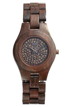 WeWOOD 'Moon Crystal' Wood Bracelet Watch, 29mm available at #Nordstrom