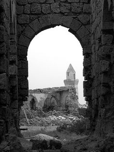Mosque in ruins, Sudan