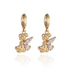 #BangGood - #KUNIU Kuniu White Zircon Crystal Fairy Dangle Drop Earrings Women Jewelry - AdoreWe.com