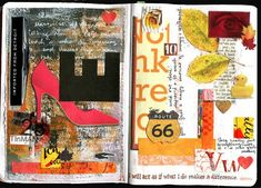Sketchbook collage, by Kathy McCreedy