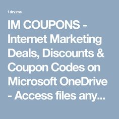 Internet Marketing Deals and Discount Coupons - Chrome Web Store