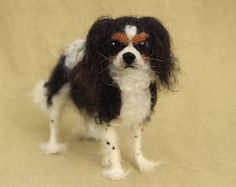 Made to order custom needle felted dog, memorial, portrait, wool sculpture, King Charles Spaniel or your dog's breed