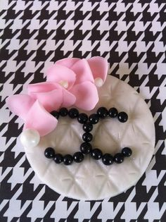 Chanel inspired cupcake topper by www.heytherecupcake.com, via Flickr
