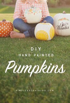 Nothing says Fall like pumpkins, but if pumpkin carving just isn't for you, not to worry! Using faux craft pumpkins as your canvas, create your own hand-painted Fall decor that can be used year after year