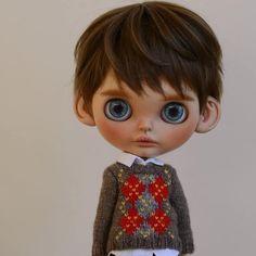 Blythe Doll Boy #blythe #customblythe #ooakblythe