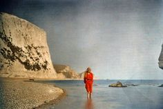 These 102-year-old pictures of a girl in red have captivated the Internet | Taken on the beach at Lulworth Cove in the English county of Dorset. We are totally floored by the gorgeous vividness of these photos.