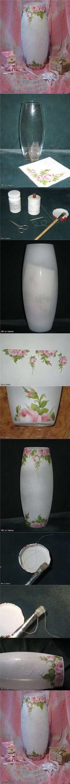 DIY How Paint Glass Jar - http://www.liveinternet.ru/users/tinnka7/post218256684