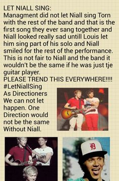 LNS!!!! Niall is AMAZING!!! The band would never be anywhere today if it wasn't for him! I love him sooo much along with so many other people around the world! Let him use his talented voice!!!