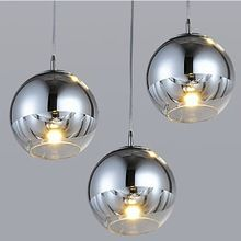 Modern Plated Ball Glass Lampshade LED Pendant Lights Fixtures Hanging Lamp Lampe for Kitchen Desk Dining Room Bar Restaurant(China (Mainland))
