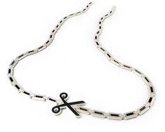 Scissored Neckwear - Art Lebedev Studio Creates the Curious 'Punctirus' Necklace (GALLERY) Ideal Cut Diamond, Best Diamond, Bridal Jewelry, Jewelry Box, Jewellery, Jewelry Rings, Women Jewelry, Scissor Necklace, Geek Fashion