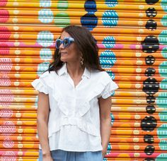 A light and breezy ruffle shirt is perfect for hot summer days