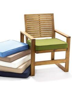Sunbrella Outdoor Seat Cushions, Quick Ship - Stanton Brownstone