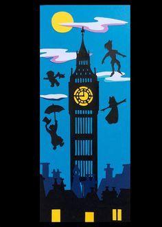 MBR headboard wall inspiration Displays Peter Pan Big Ben by SmagArt on Etsy Fête Peter Pan, Peter Pan Book, Peter Pan Party, Disney Classroom, Classroom Door, Classroom Themes, School Door Decorations, Class Decoration, Camping Decorations