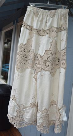 Beautiful pair of tablecloth bloomers.Lucky Penny Wear. Made 2012.