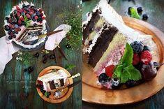 Angel's food: Tort de vara cu zmeura, cirese, afine si bezea Waffles, Breakfast, Pies, I Love, Morning Coffee, Waffle