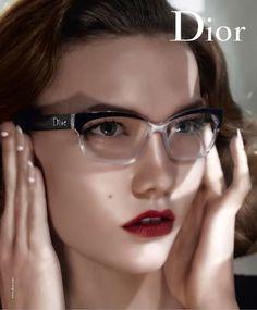 Dior Eyewear S/S 2010. Model: Karlie Kloss, Photographer: Steven Meisel. (via Design Scene)