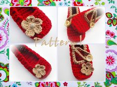 Instant Download  Best Wishes Crochet Slippers by wonderfulhands, $4.50