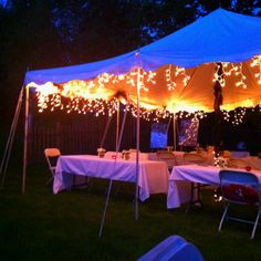Backyard idea for party (grad)