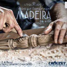 Tag em lembrança ao dia do Carpinteiro e Marceneiro para o cliente @concretmossoró
