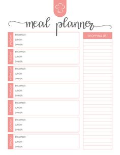 printable meal planner Free Printable Meal Planner Set - The Cottage Market Weekly Meal Planner Template, Menu Planner Printable, Free Meal Planner, Meal Planning Printable, Planner Pages, Weekly Food Planner, Planning Calendar, Weekly Menu Planning, Weekly Dinner Plan