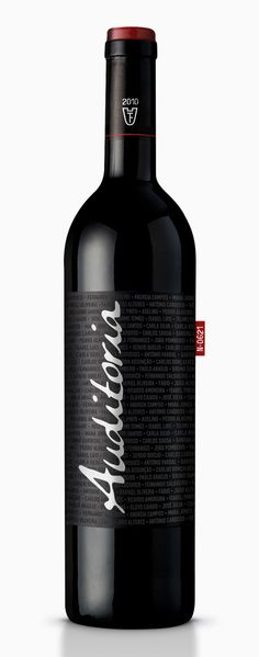 Auditoria Red Wine by Gil Alves, via Behance
