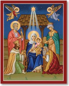 Celebrate the salvation of our world with this Christ the New Dawn icon. Shop for this and other icons of Christ at Monastery Icons. Religious Images, Religious Icons, Religious Art, Monastery Icons, Jesus Christus, Christmas Icons, Christmas Images, Biblical Art, Madonna And Child