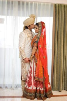 Indian Newlyweds- just the classic nature of their look